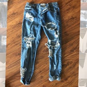 One Teaspoon Ripped Extra Baggy Jeans